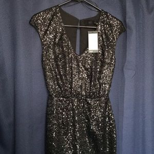 h&m Black Sequin Short Dress